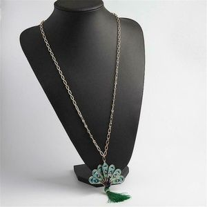 NEW Kate Spade Full Plume Peacock Pendant Necklace